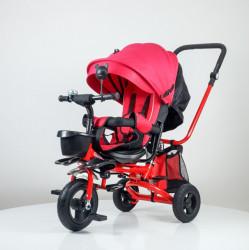 Tricikl Playtime 413 RELAX sa rotirajućim sedištem - Roze/Crveni
