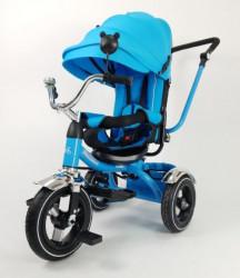 Tricikl Playtime 414 XL Plavi sa podesivim nagibom naslona + gume na naduvavanje sa Alu felnama