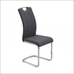 Trpezarijska stolica DC862 Noge hrom/ Crna 580x430x980 mm ( 775-085 )