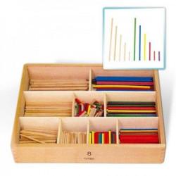 Viga Drveni matematički štapići u kutiji 58871 5366