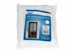 Womax mreža za komarce za vrata magnet - bela ( 0316796 )