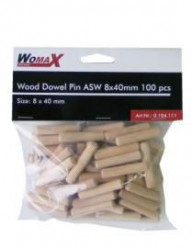 Womax tipla drvena ASW 8x40mm 100 kom ( 0104111 )
