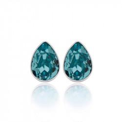 Ženske Victoria Cruz Essential Light Turquoise Mindjuše Sa Swarovski Svetlo Plavim Kristalom