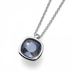 Ženski Oliver Weber Royal Simple Gray Shimmer Lančić Sa Sivim Swarovski Kristalnim Priveskom