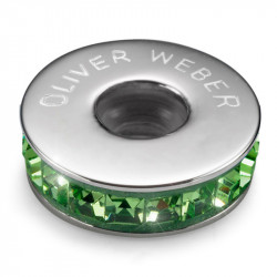 Ženski Oliver Weber Stopper Steel Peridot privezak sa swarovski zelenim kristalom za narukvicu