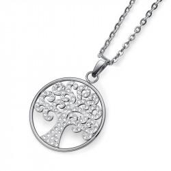 Ženski Oliver Weber Tree Crystal Lančić Sa Swarovski Belim Kristalima