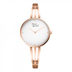 Ženski Pierre Ricaud Quartz Beli Roze Zlatni Modni Ručni Sat Sa Roze Zlatnim Metalnim Kaišem
