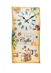 Zidni sat Talas I Love Coffee 40Xx21cm ( 35845_1 )