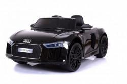 Audi R8 Spyder Licencirani auto za decu na akumulator sa kožnim sedištem i mekim gumama - Crni