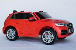 Auto Audi Q5 DVOSED Licencirani sa kožnim sedištem i mekim gumama - Crveni ( A Q5-2 )