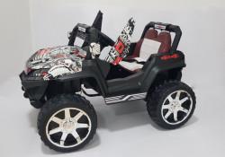 BAGI 4x4 model 119A - Dečiji Auto na akumulator sa kožnim sedištem i mekim gumama - funkcija ljuljanja - Beli