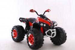 Bagi Kvad Motor na akumulator sa mekim gumama i kožnim sedištem - Crveni
