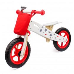 Balance Bike 755 Drveni Bicikl bez pedala za decu - Crveni