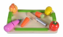 Cangaroo Drvena igračka 4308 daska za sečenje (5 povrćki + drveni nož) ( CANW4308 )