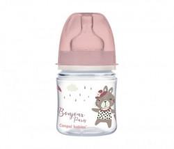 Canpol baby flasica 120ml siroki vrat, pp - bonjour paris 35/231 pink ( 35/231_pin )