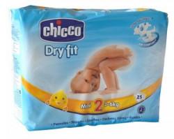 Chicco pelene DRYFIT 2 Mini , 3-6 kg ,25 kom. ( 1040050 )