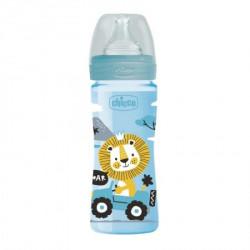 Chicco WB plastična flašica 250ml, silikon, plava ( A048502 )