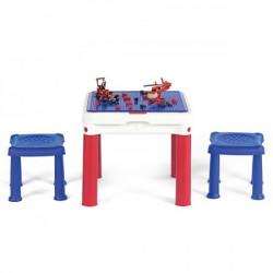 Curver sto dečiji constructable sa dve stolice set, crvena/plava/bela ( CU 227497 )