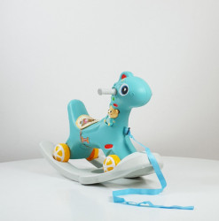 Dino Baby - Njihalica za decu sa točkovima Model 625 - Plava