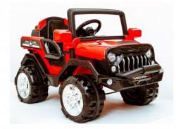 Džip Model 258 na akumulator sa daljinskim upravljanjem za decu - Crveni