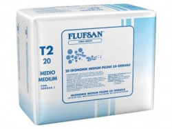 Flufsan pelene za odrasle Ekonomik (dnevna) Medium do 70kg 20 KOM ( 0307002 )