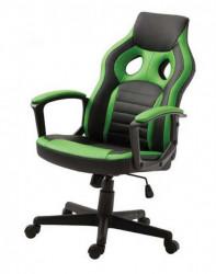 Gejmerska stolica 2328 od eko kože Crno-zelena