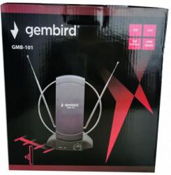 Gembird antena sobna sa pojacalom, UHF/VHF, dobit 25dB, 220v + 12V crna (721) GMB-101 **