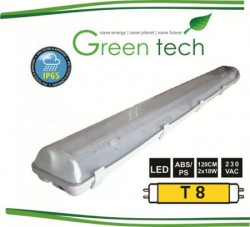 Greentech Svetiljka vodonepropusna za LED cevi IP65 2x18W LED WP-1200-2x18 ( 060-0227 )
