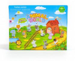 Hk Mini igračka gumene životinje u displej, 6 kom ( A015019 )