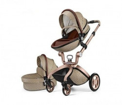 Hot Mom kolica brown/lightbrown 2u1 (sportsko sediste+korpa) ( F22BROWNG )