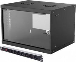 Intellinet LAN ormar zidni 6U400mm 714143+PDU 713986 crni ( 0537109 )