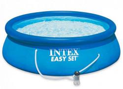 Intex bazen 305 Easy Set sa PUMPOM - plavi ( 28122 )