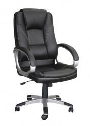 Kancelarijska fotelja 6158 od eko kože - Crna