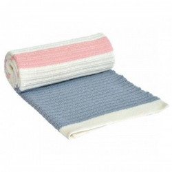 KikkaBoo Ćebence za bebe stripes - light blue-pink ( 31103010023 )