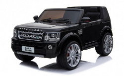 Land Rover Discovery Licencirani Dvosed sa kožnim sedištima i mekim gumama - Crni