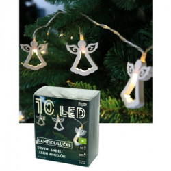 LED drveni anđeli 5,5x5 cm, 10 ( 52-584000 )