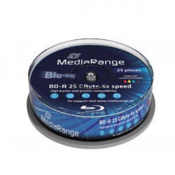 MediaRange 25GB Full Face Print 4X MR504 25kom ( 525MR4P25/Z )