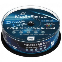 MediaRange MR474 Double Layer Printable 8.5GB DVD+R DL 8X  (  55YMP82+/Z )