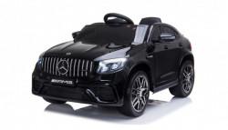 Mercedes 247 Licencirani auto sa kožnim sedištem i mekim gumama - Crni