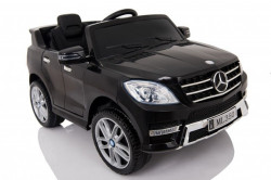 Mercedes ML 350 Licencirani auto na akumulator sa kožnim sedištem i mekim gumama - Crni (ML 350 - 2)