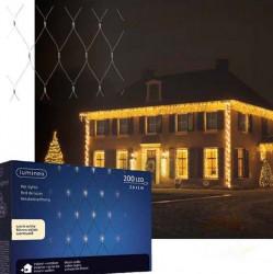 Novogodišnji ukrasi - Spoljašnja novogodišnja LED svetleća mreža 100x260cm Toplo bela Lumineo Icicle ( 494881 )
