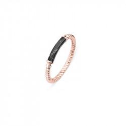 Paul Hewitt Rope Starboard Black Marble Roze Zlatni Prsten Od Hirurškog Čelika 54