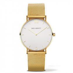 Paul Hewitt Sailor Line Beli Zlatni ručni sat sa zlatnim pancir kaišem