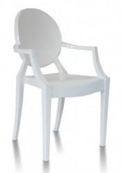 Plastična stolica GHOST - Bela