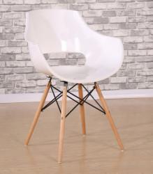 Plastična trpezarijska stolica D-03 - Bela