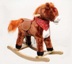 Plišani Mali konjić klackalica - Braon