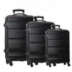 Porto, kofer, set 3 komada, ABS, crna ( 100095 )