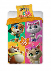 Posteljina za decu 44 Cats 140x200+70x90cm ( 5907750586516 )