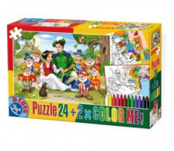 Puzzle 24 + COLOR ME FAIRY TALES 08 ( 07/50380-08 )