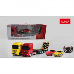 Rastar r/c 1:26 mercedes-benz actros with 1/24 scale car ( RS10995 )